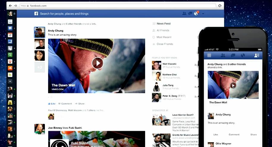 Nieuwe look voor facebook