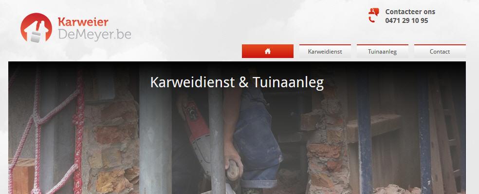 Nieuwe website Karweier De Meyer