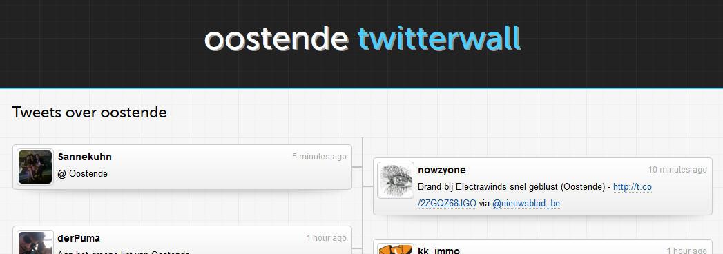 Oostende twitterwall